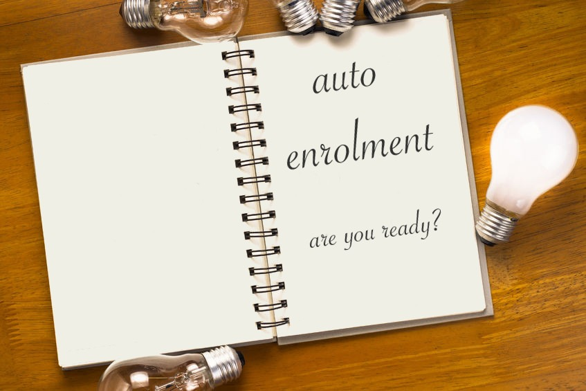 Notebook open at Auto enrolment page